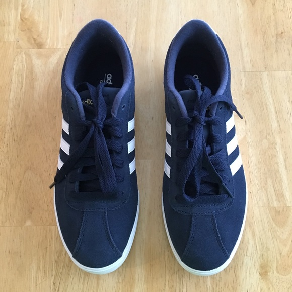 promo code bd199 1a19d adidas Shoes - Womens Adidas NEO Courtset Suede Sneakers Sz 7